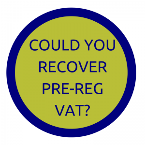 recover pre-registration VAT on assets