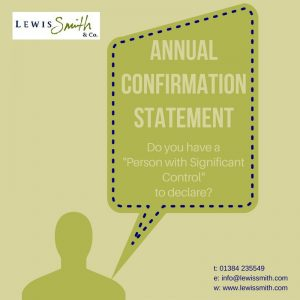 need help completing your annual confirmation statement