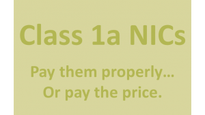 How to pay Class 1a NICs