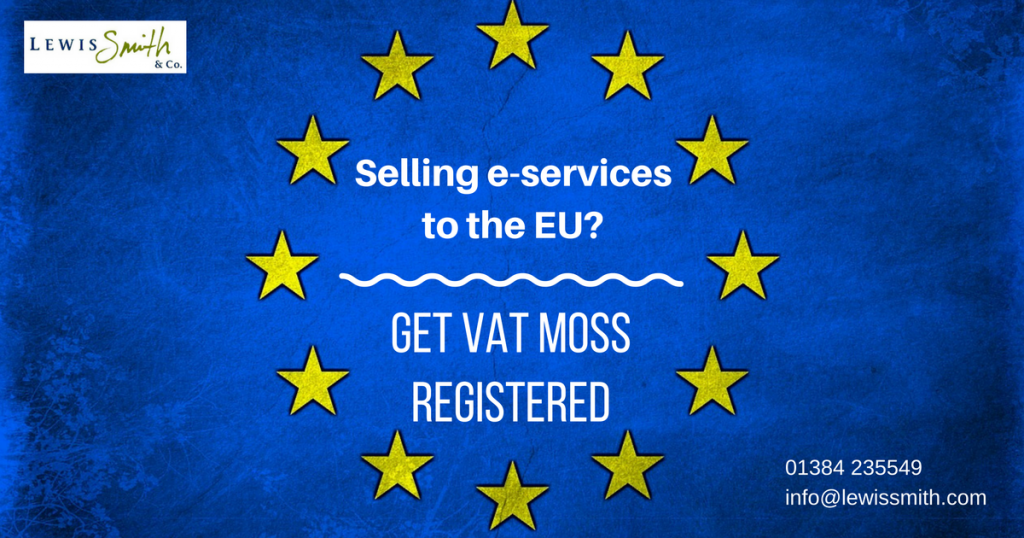 register for VAT MOSS if you sell electronic services into EU countries