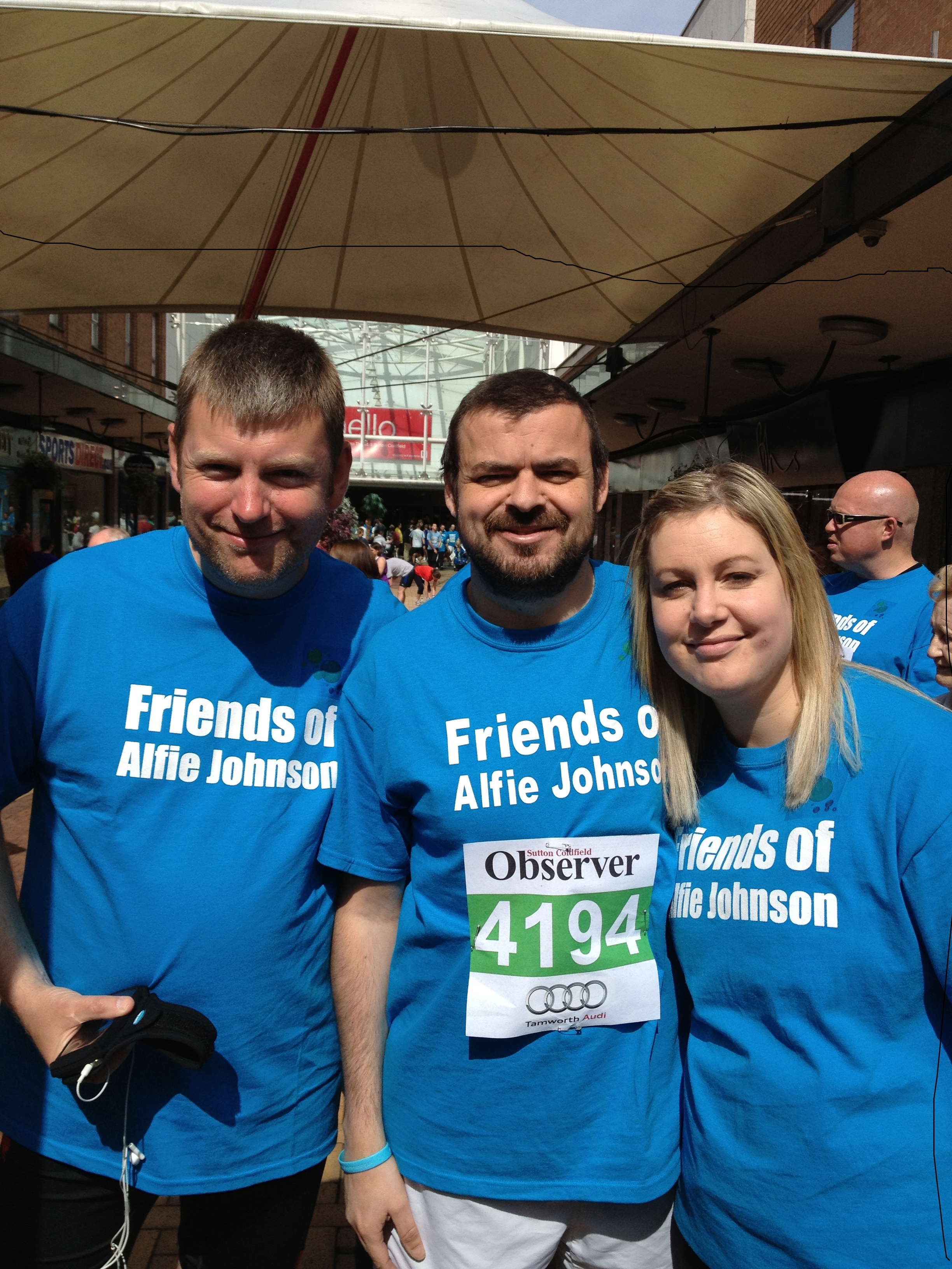 Andrew, Craig and Suzanne running for Lewis Smith & Co. to raise money for The Friends of Alfie Johnson