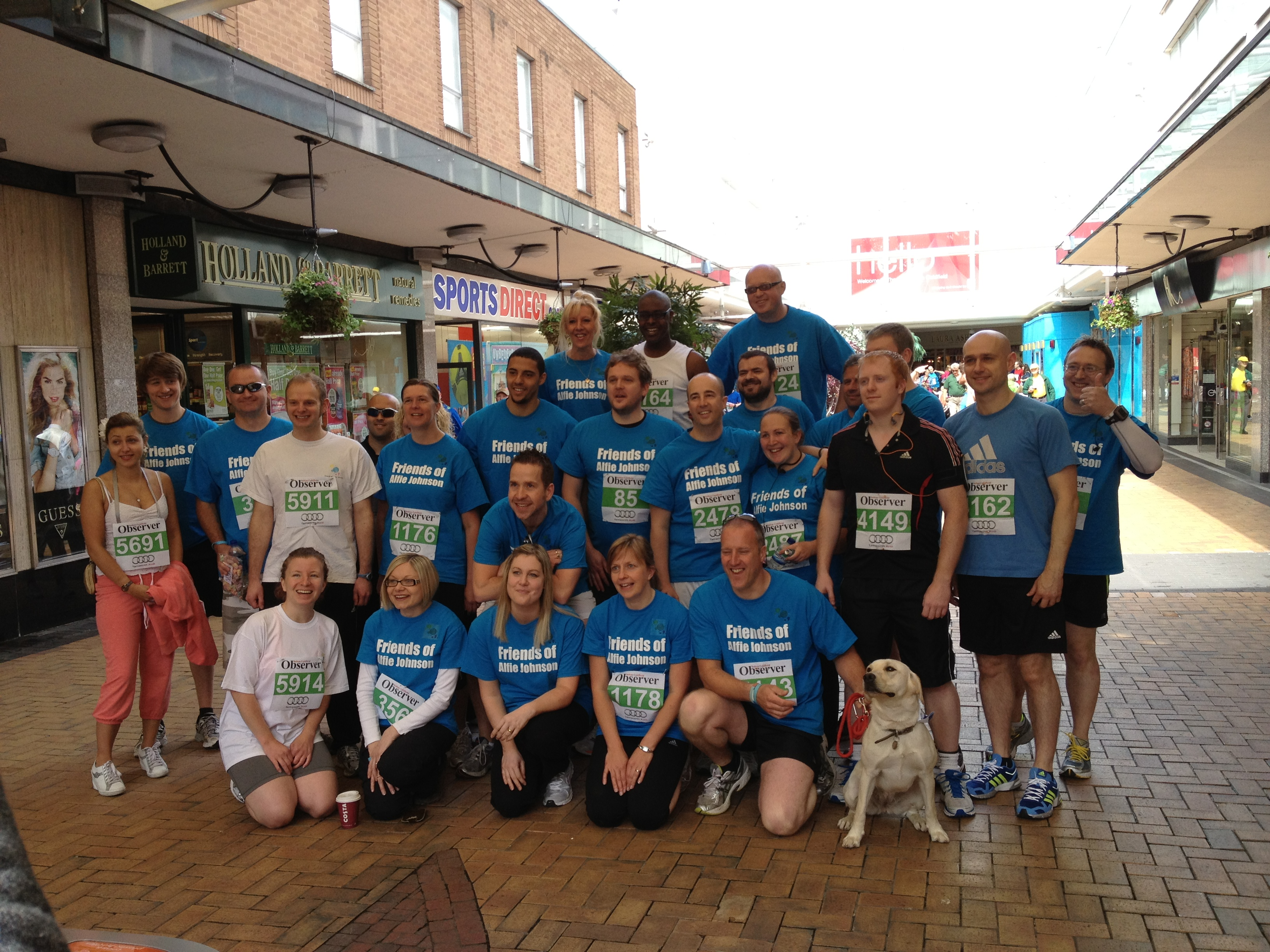 Andrew, Craig and Suzanne running for Lewis Smith & Co in the Great Midlands Fun Run