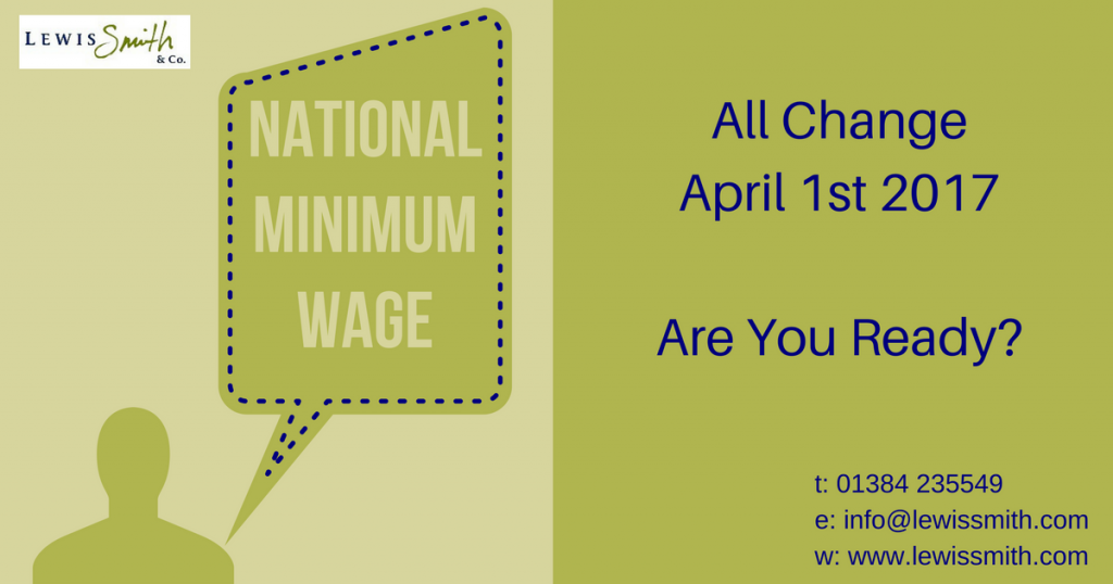 Minimum wage rates 2017