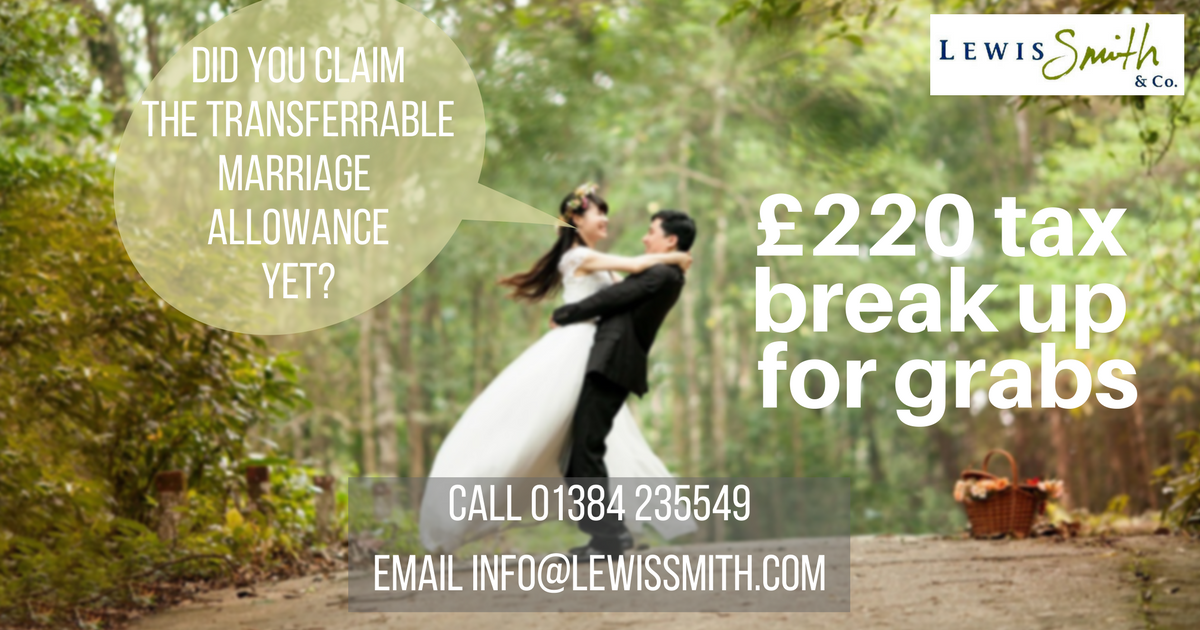 Claim your £220 transferrable marriage allowance